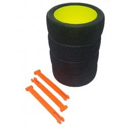 Organizador de ruedas en Naranja flúor