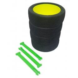 Organizador de ruedas en Verde flúor
