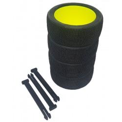Organizador de ruedas en Negro