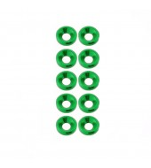 M3 countersunk washer Green