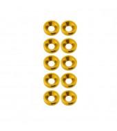 M3 countersunk washer Yellow