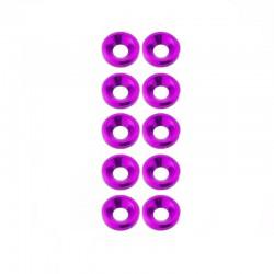 M3 countersunk washer Purple