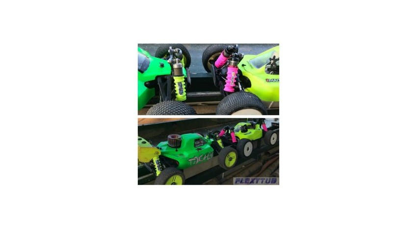 Fluor yellow with Mugen and fluor pink with Agama 1/8
